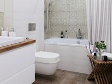 Квартира «Дизайн интерьера трехкомнатной квартиры ЖК Западное Кунцево», ванная . Фото № 31372, автор Болдырев Артем