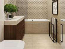 Квартира «Дизайн интерьера двухкомнатной квартиры Дизайн интерьера ЖК Маяк», ванная . Фото № 31381, автор Болдырев Артем