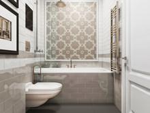 Квартира «Дизайн интерьера трехкомнатной квартиры в стиле современная классика», ванная . Фото № 31405, автор Болдырев Артем