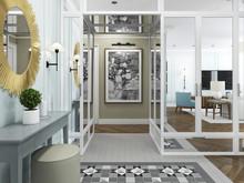 Квартира «Дизайн интерьера трехкомнатной квартиры в стиле современная классика», холл . Фото № 31407, автор Болдырев Артем