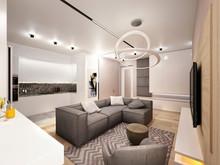 Дизайн интерьера двухкомнатной квартиры Современный стиль ЖК Level Кутузовский, фото № 8518, Болдырев Артем