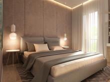 Квартира «Дизайн интерьера двухкомнатной квартиры Современный стиль ЖК Level Кутузовский», спальня . Фото № 31413, автор Болдырев Артем