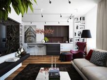 Дизайн интерьера двухкомнатной квартиры ЖК Wellton Park, фото № 8520, Болдырев Артем