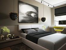 Квартира «Дизайн интерьера двухкомнатной квартиры ЖК Wellton Park», спальня . Фото № 31421, автор Болдырев Артем