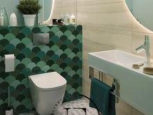 Квартира «Подводный мир в московской квартире в стиле Soleray», ванная . Фото № 31455, автор Ив Эжени