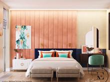 Квартира «Подводный мир в московской квартире в стиле Soleray», спальня . Фото № 31457, автор Ив Эжени