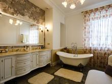 Квартира «Двухуровневая квартира в ЖК Правый берег», ванная . Фото № 31463, автор Акбатырова Светлана