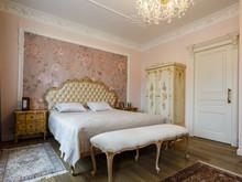 Квартира «Двухуровневая квартира в ЖК Правый берег», спальня . Фото № 31462, автор Акбатырова Светлана
