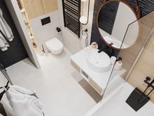 Квартира «Квартира холостяка», ванная . Фото № 31507, автор Efimovykh Elena