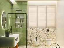 Квартира «Квартира в стиле Soleray в Ялте.», ванная . Фото № 31510, автор Ивлиева Евгения