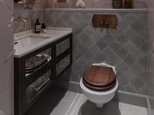 Квартира «Классический Крылов», санузел . Фото № 31540, автор Mediana Interiors дизайн-бюро