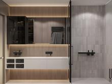 Квартира «UI055», ванная . Фото № 31577, автор Yousupova
