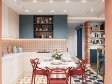 Квартира «ЛИСЬЯ НОРА», кухня . Фото № 31594, автор Алёны Чекалиной Дизайн студия