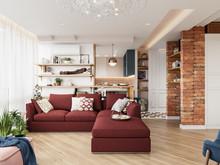Квартира «ЛИСЬЯ НОРА», гостиная . Фото № 31596, автор Алёны Чекалиной Дизайн студия