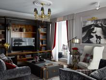 Квартира «Санкт-Петербург», гостиная . Фото № 31674, автор Шабельникова Варвара
