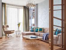 Квартира «Мелодия Ар-Деко», гостиная . Фото № 31688, автор Морозова Татьяна