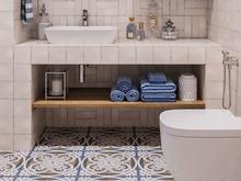 Квартира «МЯТНО-ЛИЛОВОЕ ДЫХАНИЕ», ванная . Фото № 31728, автор Алёны Чекалиной Дизайн студия