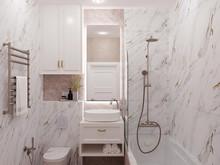 Квартира «Marble glow», ванная . Фото № 31752, автор Смоленцева Виктория