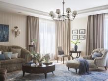 Квартира «Частная квартира в ЖК Воробьёвы горы 180кв.м.», гостиная . Фото № 31780, автор Родионовская Мария