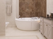 Квартира «ЖК Донской Олимп», ванная . Фото № 31798, автор Klene Tatyana