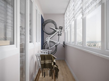 Квартира «Матвеевская», веранда лоджия . Фото № 31806, автор Klene Tatyana