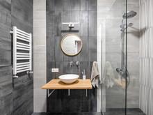 Квартира «Городской оазис для холостяка», ванная . Фото № 31811, автор Корчевая Елена