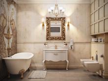 Квартира «Классика с золотом», ванная . Фото № 31822, автор TerraDiz студия дизайна