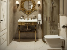 Квартира «Классика с золотом», ванная . Фото № 31824, автор TerraDiz студия дизайна