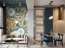 Квартира «Современный интерьер», гостиная . Фото № 31839, автор TerraDiz студия дизайна