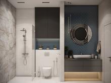 Квартира «Современный интерьер», санузел . Фото № 31834, автор TerraDiz студия дизайна