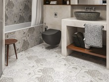 Квартира «ИНДУСТРИАЛЬНАЯ ГЕОМЕТРИЯ», ванная . Фото № 31894, автор Алёны Чекалиной Дизайн студия
