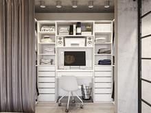 Квартира «ИНДУСТРИАЛЬНАЯ ГЕОМЕТРИЯ», кабинет . Фото № 31892, автор Алёны Чекалиной Дизайн студия