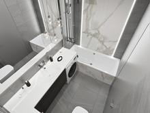 Квартира «ЖК ТРИУМФ», ванная . Фото № 31901, автор Дикий Николай