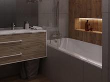 Квартира «Пыльный розовый», ванная . Фото № 31925, автор Батраков Степан