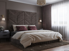 Квартира «Пыльный розовый», спальня . Фото № 31924, автор Батраков Степан