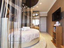 Квартира «Стильный черный», спальня . Фото № 31936, автор Евсеева Алена