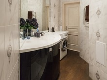 Квартира «Стильный черный», ванная . Фото № 31939, автор Евсеева Алена