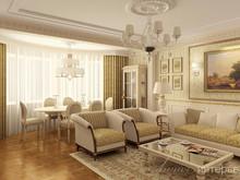 Квартира «Классический интерьер, ул. Вавилова», гостиная . Фото № 31965, автор Линия интерьера Студия дизайна
