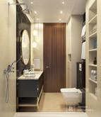 Квартира «Интерьер 2-х комнатной квартиры», санузел . Фото № 31985, автор Линия интерьера Студия дизайна