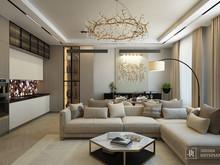 Квартира «Интерьеры гостиных в современном стиле», гостиная . Фото № 31990, автор Линия интерьера Студия дизайна