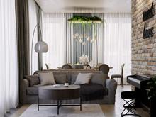Квартира «Четырехкомнатная квартира в ЖК Ботаника», гостиная . Фото № 31993, автор Корпан Ксения