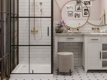 Квартира «Четырехкомнатная квартира в ЖК Ботаника», ванная . Фото № 32000, автор Корпан Ксения