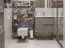 Квартира «Двухкомнатная квартира в ЖК Жемчужный берег», ванная . Фото № 32005, автор Корпан Ксения