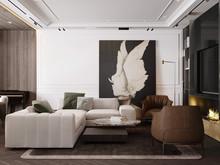 Квартира «S069», гостиная . Фото № 32009, автор Yousupova