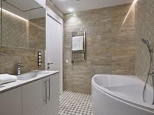 Квартира «Квартира в Неорусском стиле в ЖК «Коперник»», ванная . Фото № 32017, автор Ивлиева Евгения