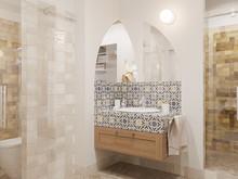 Квартира «МАГИЯ ФОРМЫ И ЦВЕТА», ванная . Фото № 32039, автор Алёны Чекалиной Дизайн студия