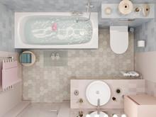 Квартира «МАГИЯ ФОРМЫ И ЦВЕТА», ванная . Фото № 32040, автор Алёны Чекалиной Дизайн студия