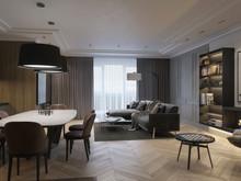 Квартира «Квартира в европейском стиле», гостиная . Фото № 32086, автор Агапова Марина