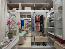 Квартира «Квартира в ЖК Кандинский», гардеробная . Фото № 32096