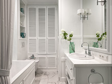 Квартира «Квартира в КД Тихвин», ванная . Фото № 32099